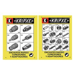 Blisters de enchufes rápidos, conexiones y adaptadores